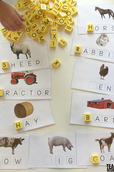 Click Clack Moo: Farm Words Spelling Mats