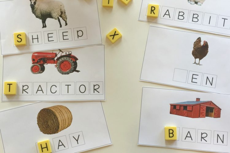 Click Clack Moo: Farm Words Spelling Mats