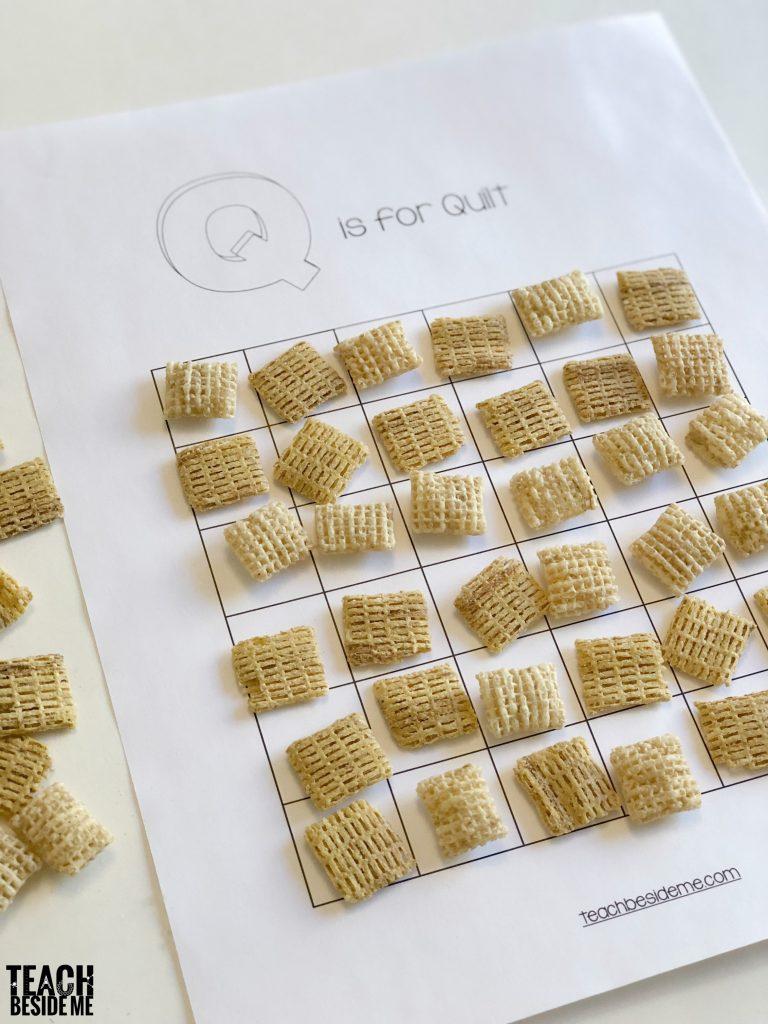 Preschool Letter Q Snack