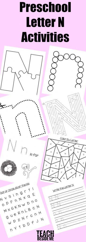 letter of the week preschool letter n activities teach beside me
