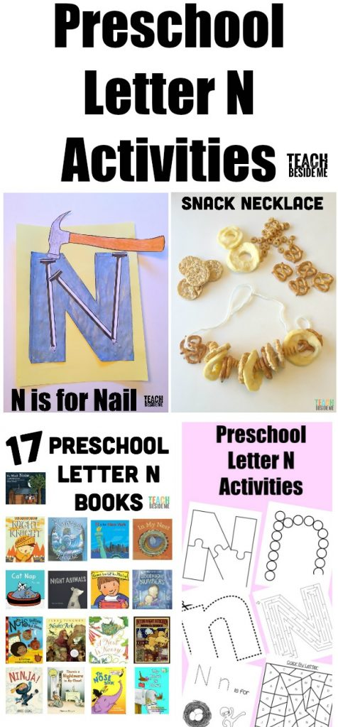 Preschool Letter N Activities collage