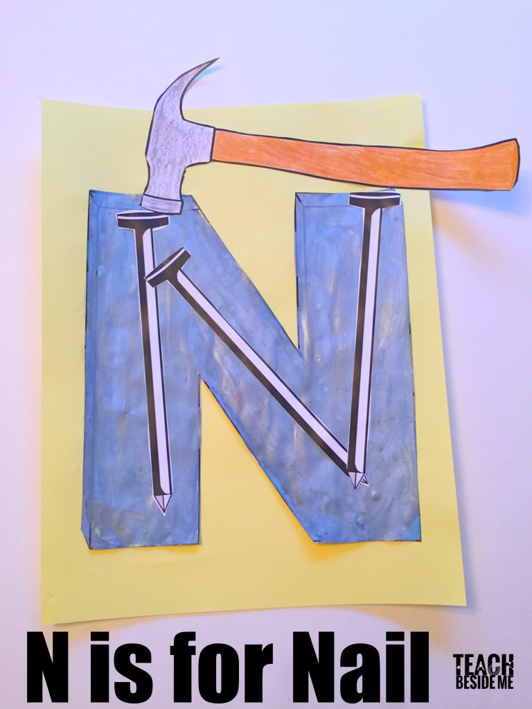Preschool Letter N Craft- N is for Nail