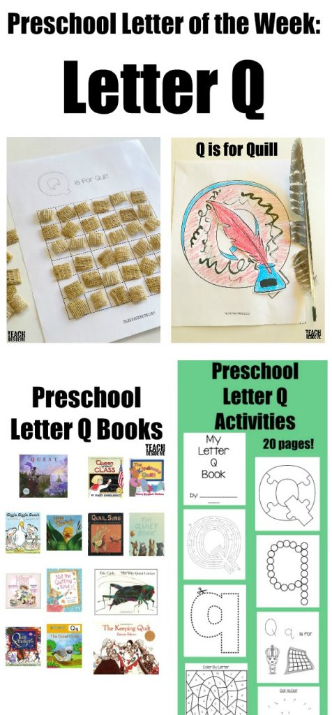 Preschool Letter of the Week Letter Q