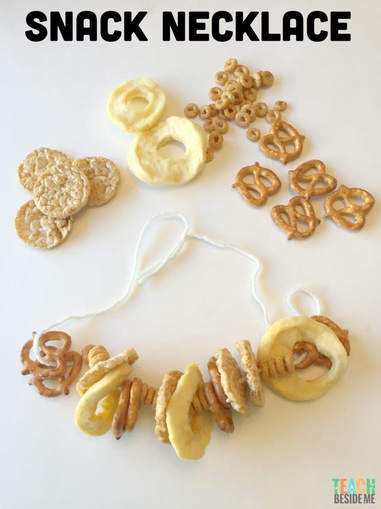 Snack Necklace- Preschool Letter N Snack