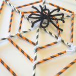 Straw and Pipe Cleaner Spider Web