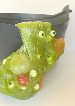 Edible Witches Brew Slime for Halloween