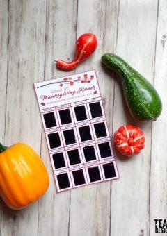 Thanksgiving Activity: Dinner Scratch-Off Cards