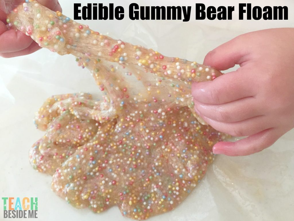 Edible floam slime from gummy bears
