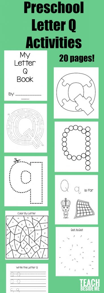 image regarding Letter Q Printable named Letter of the 7 days: Preschool Letter Q Things to do Coach