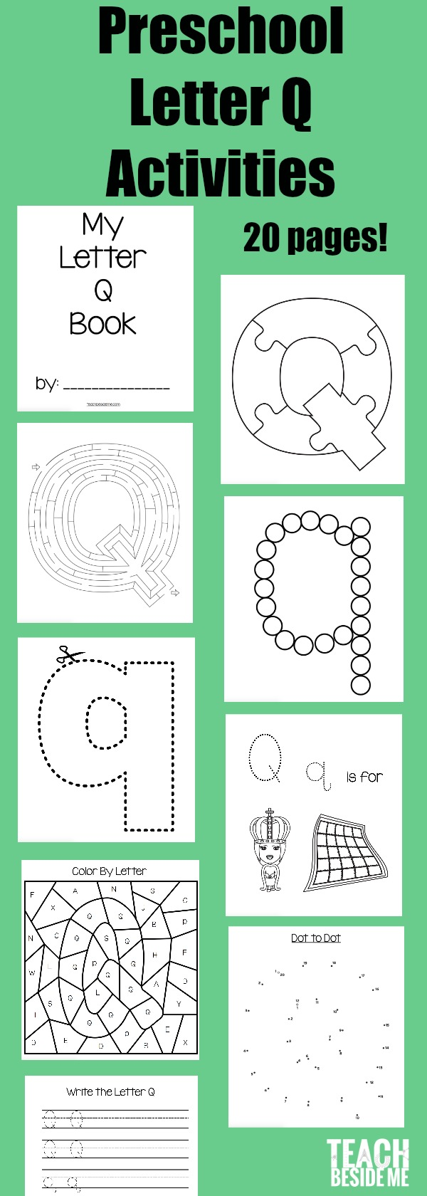 Letter of the Week: Preschool Letter Q Activities - Teach Beside Me