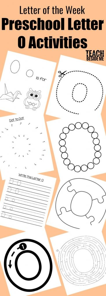 preschool letter of the week- letter o activities