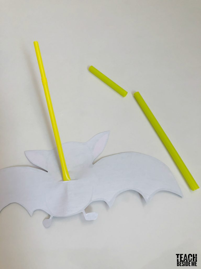 straws on flapping bat wings