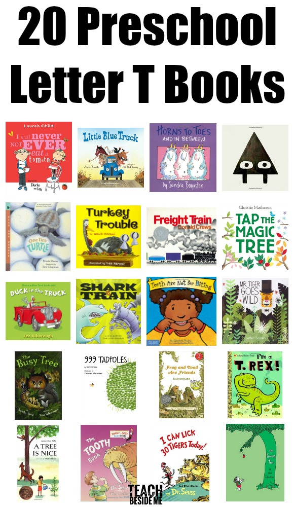 20 Preschool Letter T Books