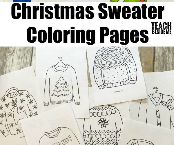 Christmas Sweater Coloring Pages