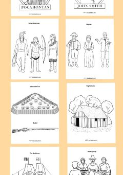 Historical Early America Coloring Book