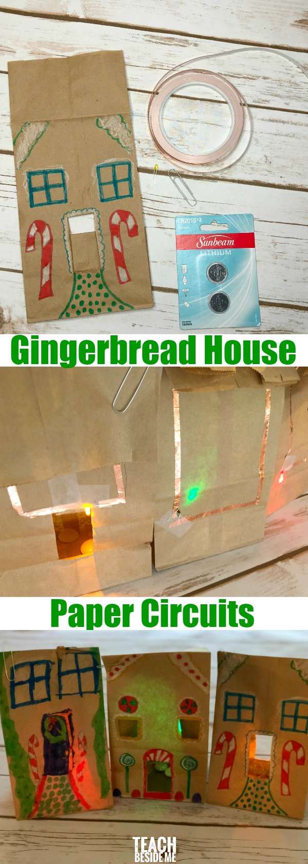 Gingerbread House Paper Circuits