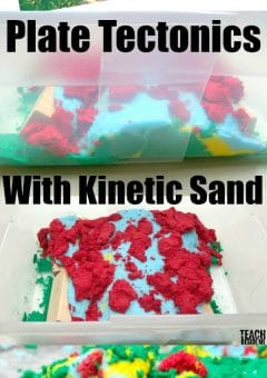 Plate Tectonics with Kinetic Sand