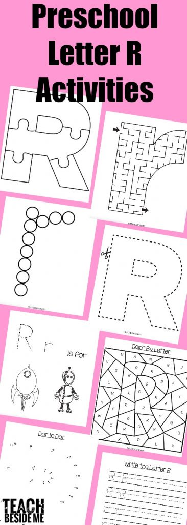 Preschool Letter R Worksheets