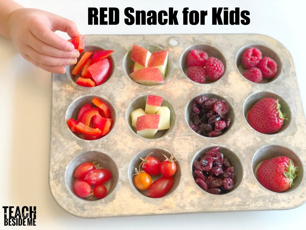 Preschool Letter R snack- R is for Red