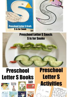 Letter of the Week: Preschool Letter S
