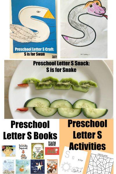 Letter of the Week: Preschool Letter S
