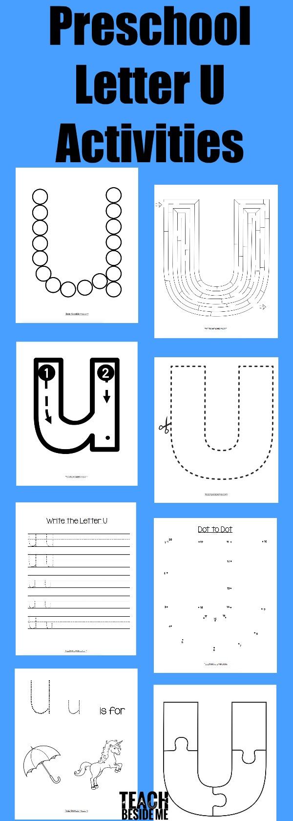 Preschool Letter U Activities