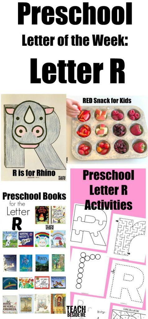 Preschool letter R activities