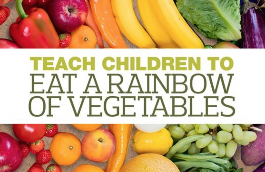 kids eating a rainbow of colors