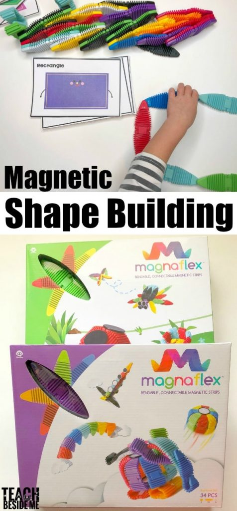 Shape Building cards with magnets