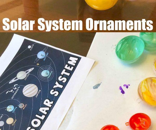 Solar System Christmas Ornaments