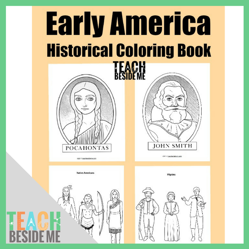 Historical Early America Coloring Book - Teach Beside Me