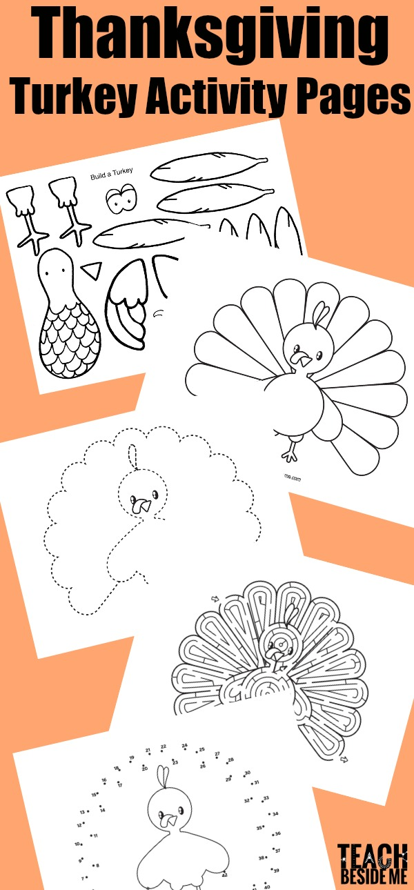 Thanksgiving Turkey Activity Pages