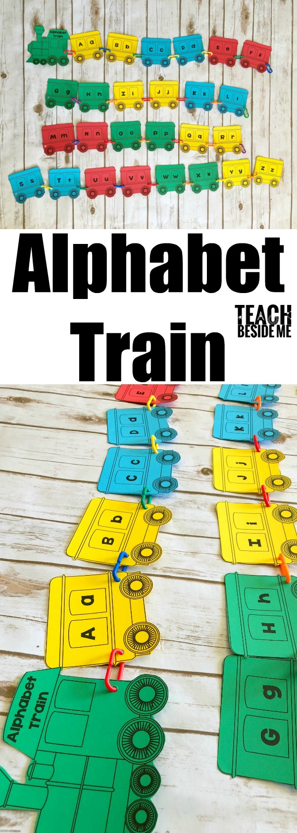 alphabet train preschool learning