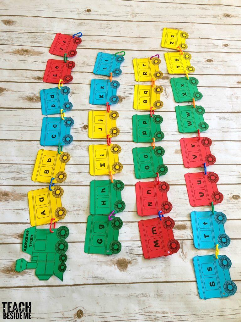 preschool- build an alphabet train