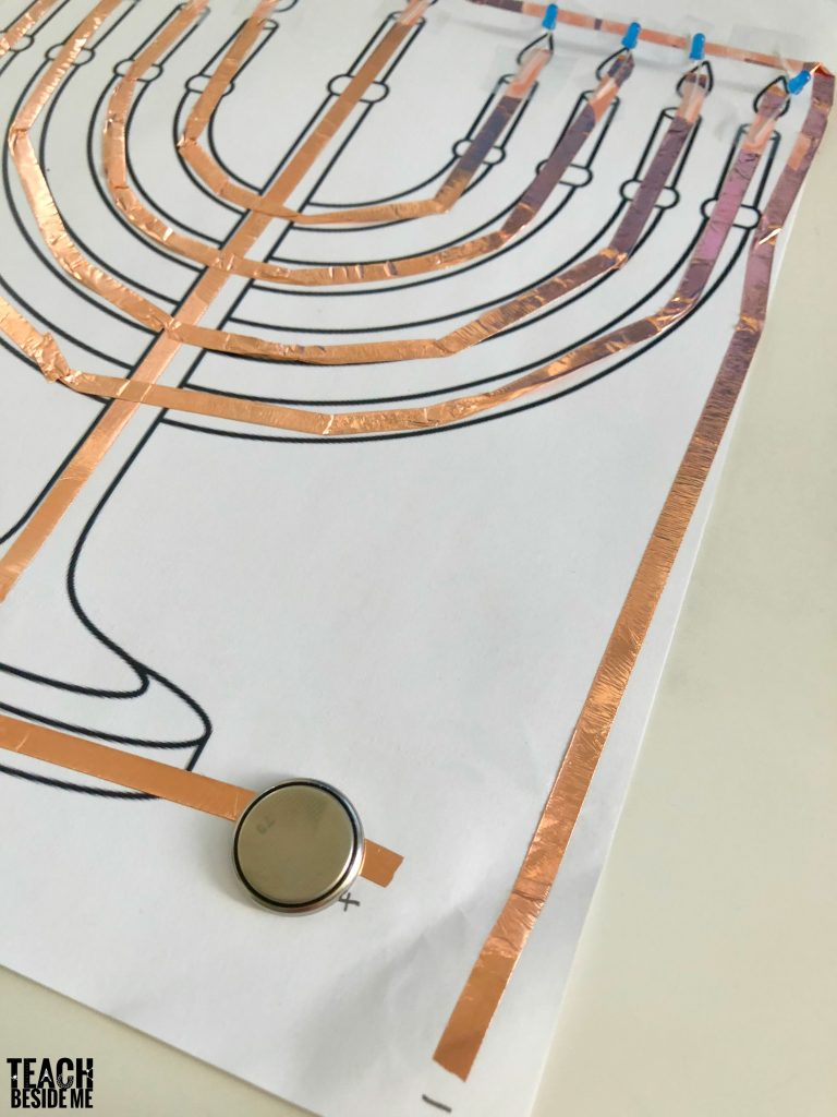 how to make a paper circuit menorah
