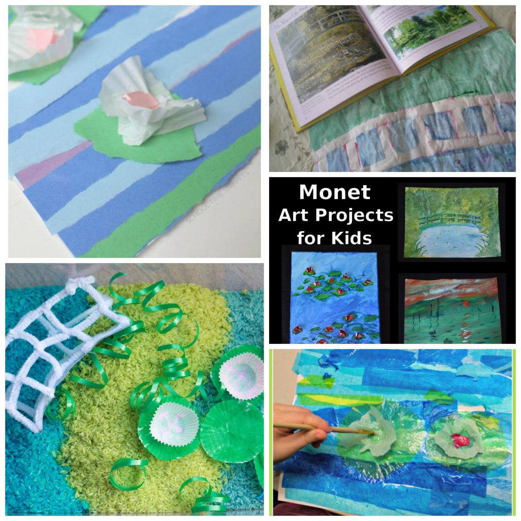 monet art projects for kids