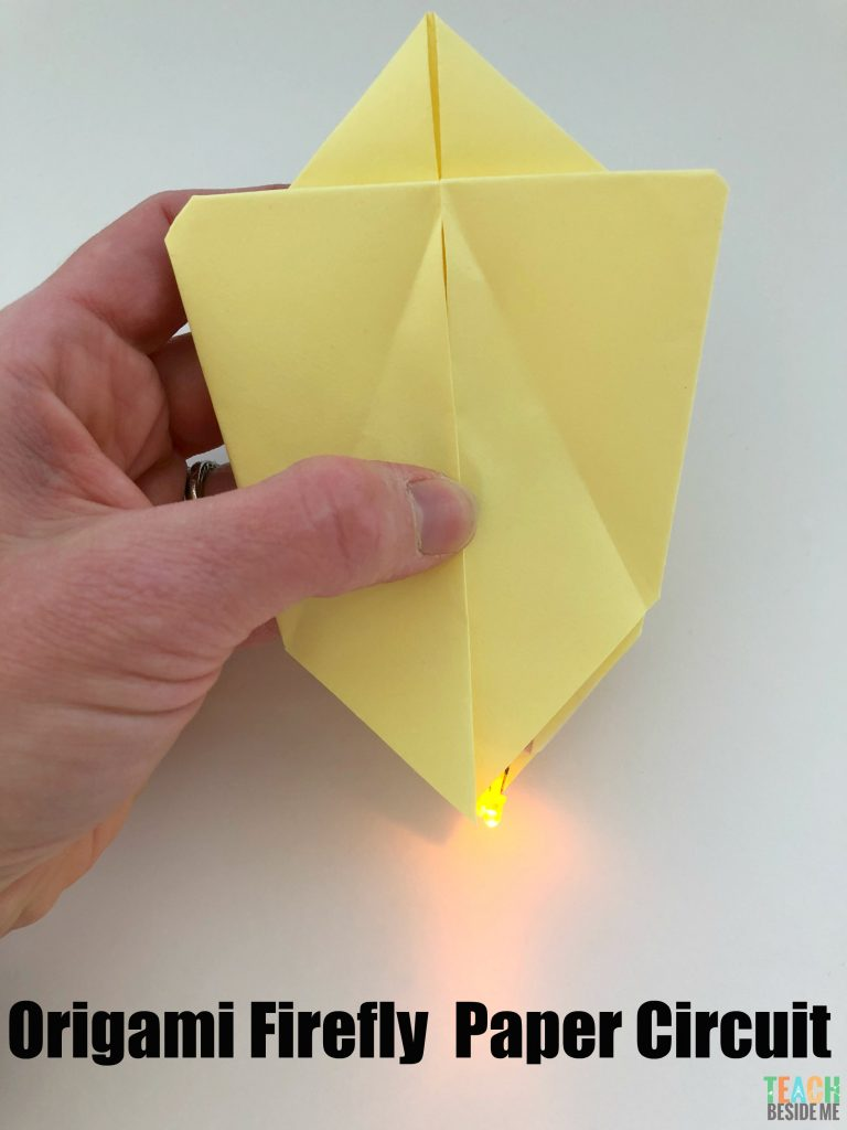 origami firefly paper circuit