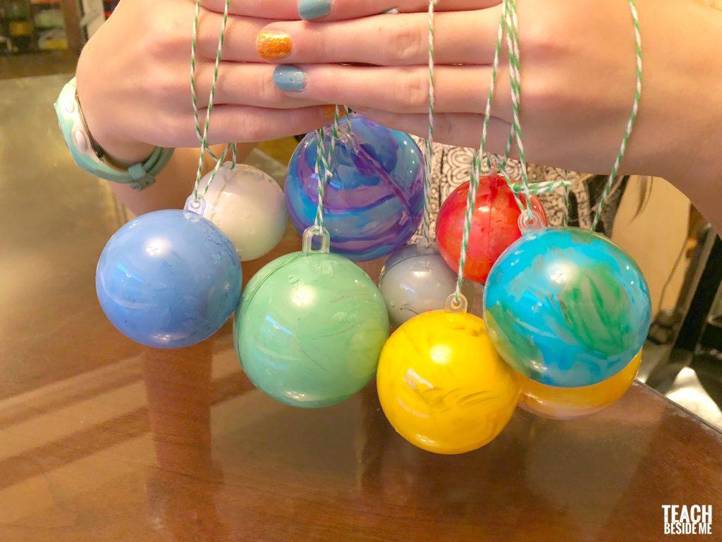 ornament balls- solar system