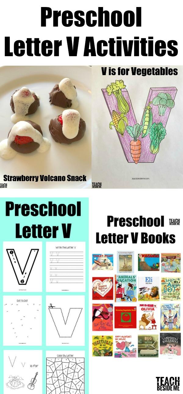 preschool letter V activities- letter of the week