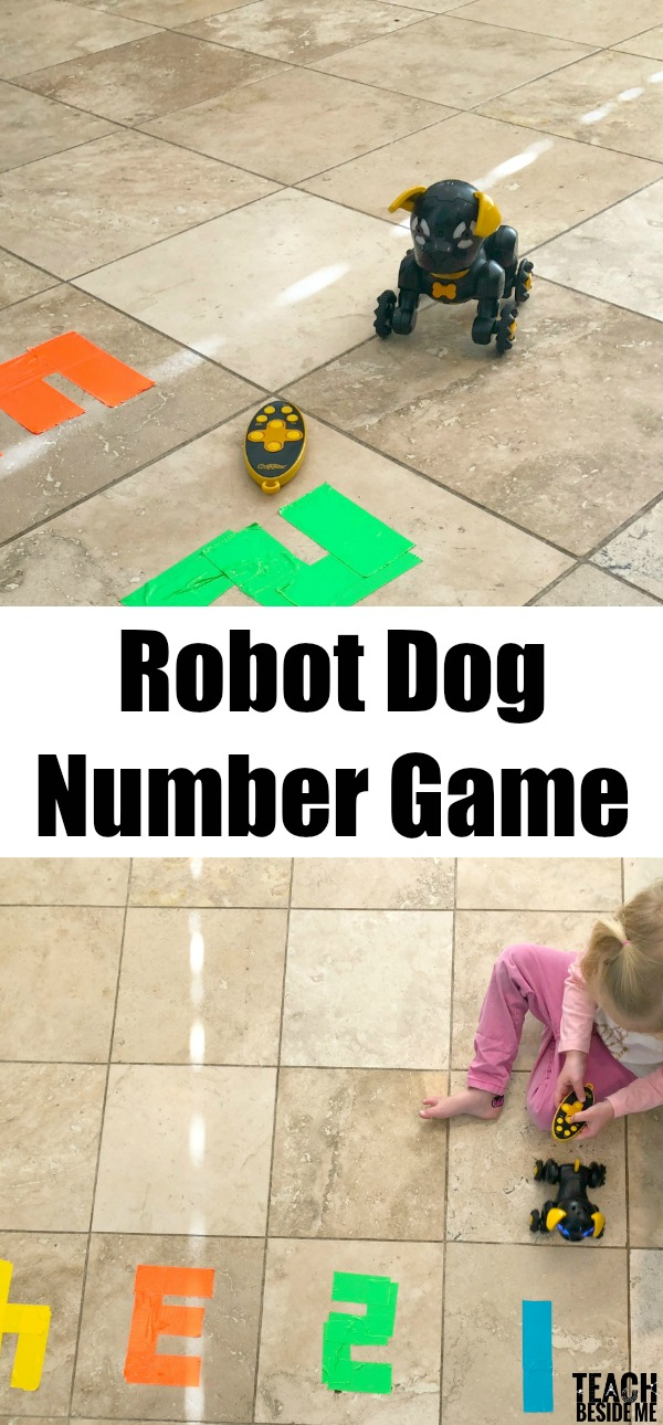 robot dog number game