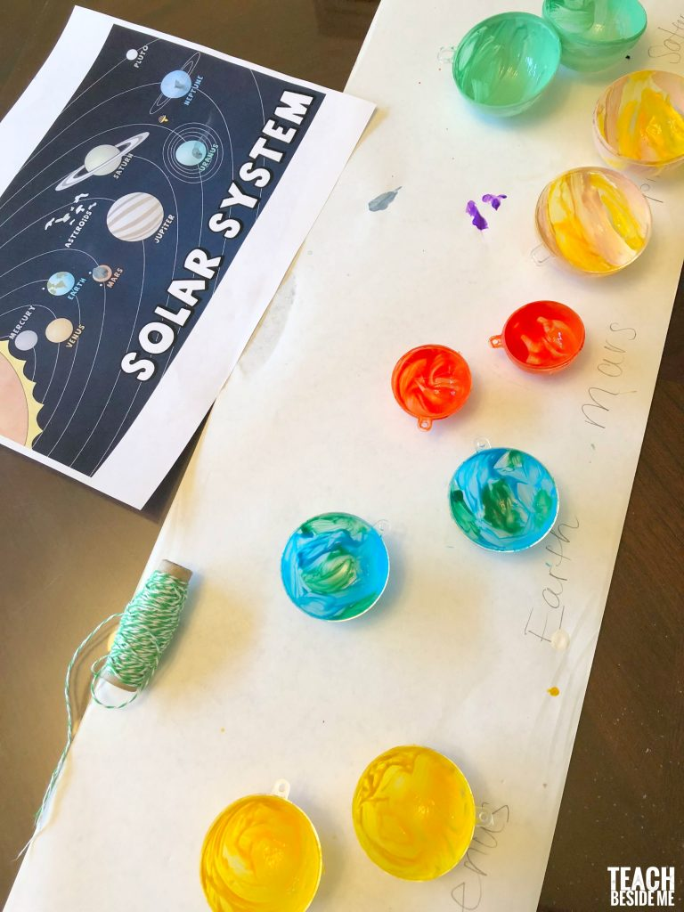 painted solar system ornaments