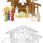 Printable Build Your Own Nativity