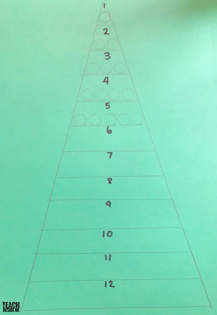 christmas tree counting- preschool math