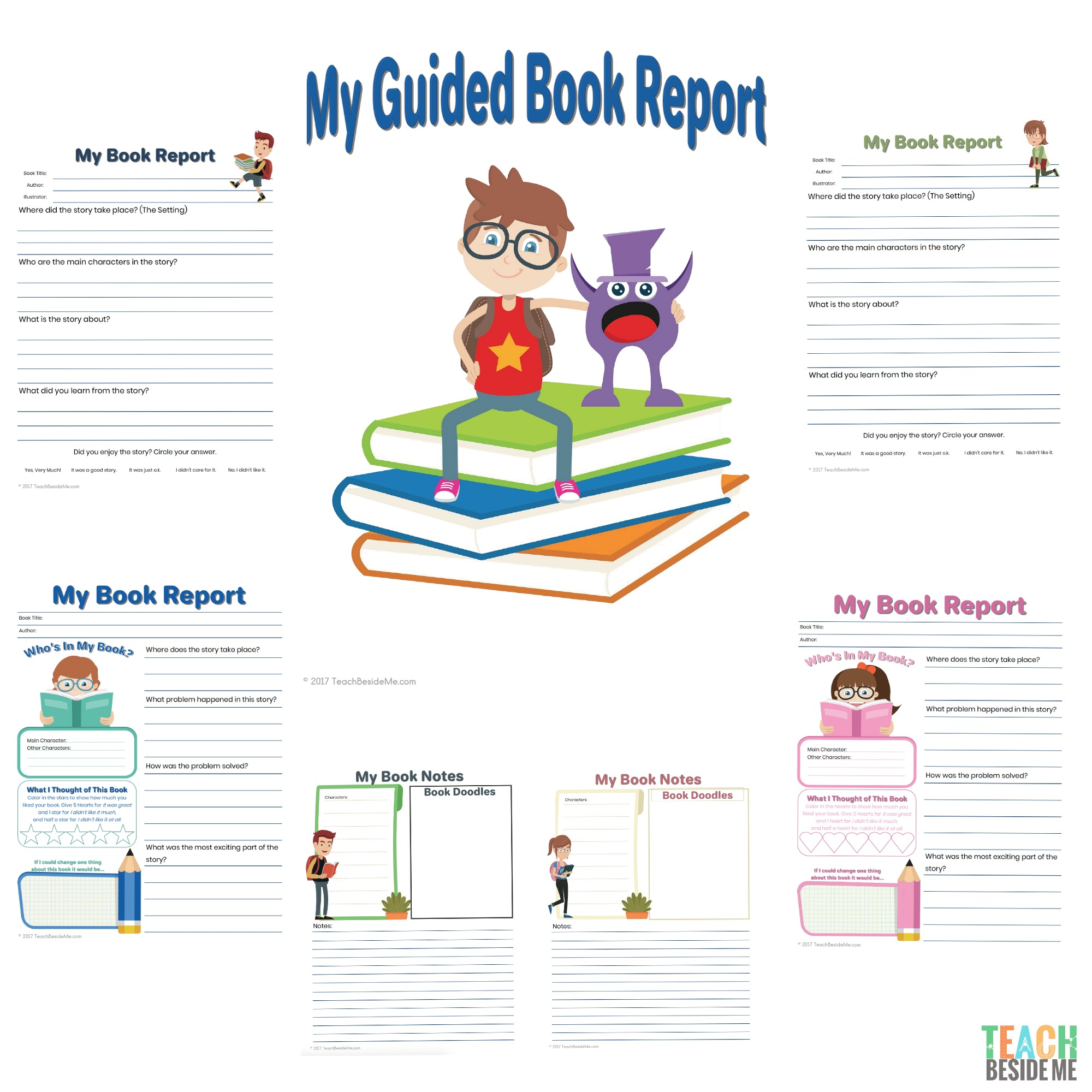 Elementary Guided Book Report Teach Beside Me
