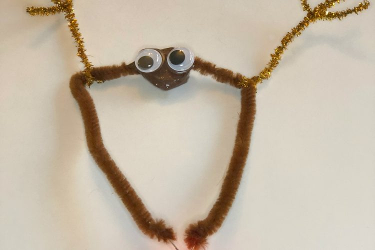 Christmas STEM: Rudolph Pipe Cleaner Circuit