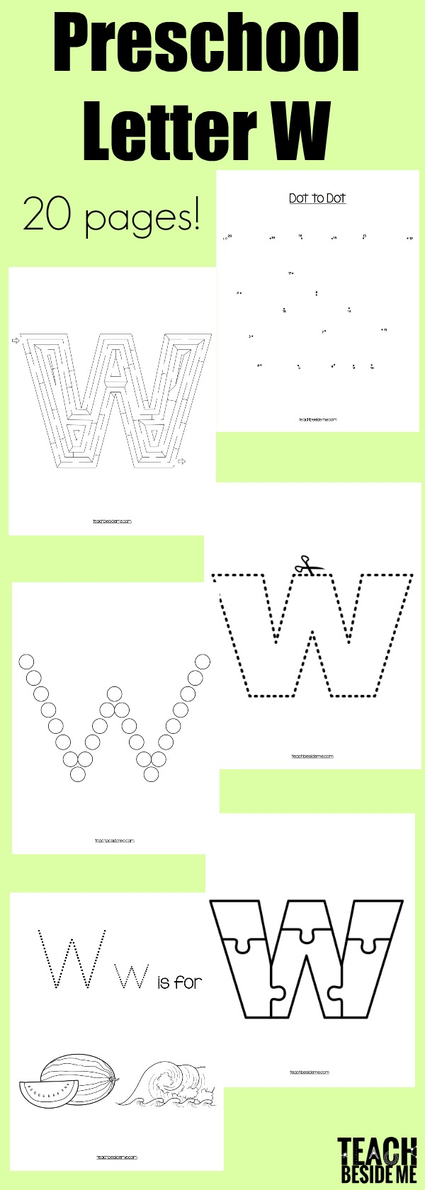 Preschool Letter W Activities and worksheets