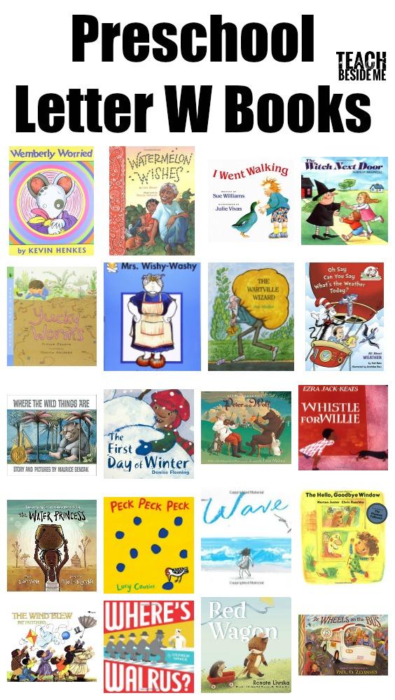 Preschool Letter W Books