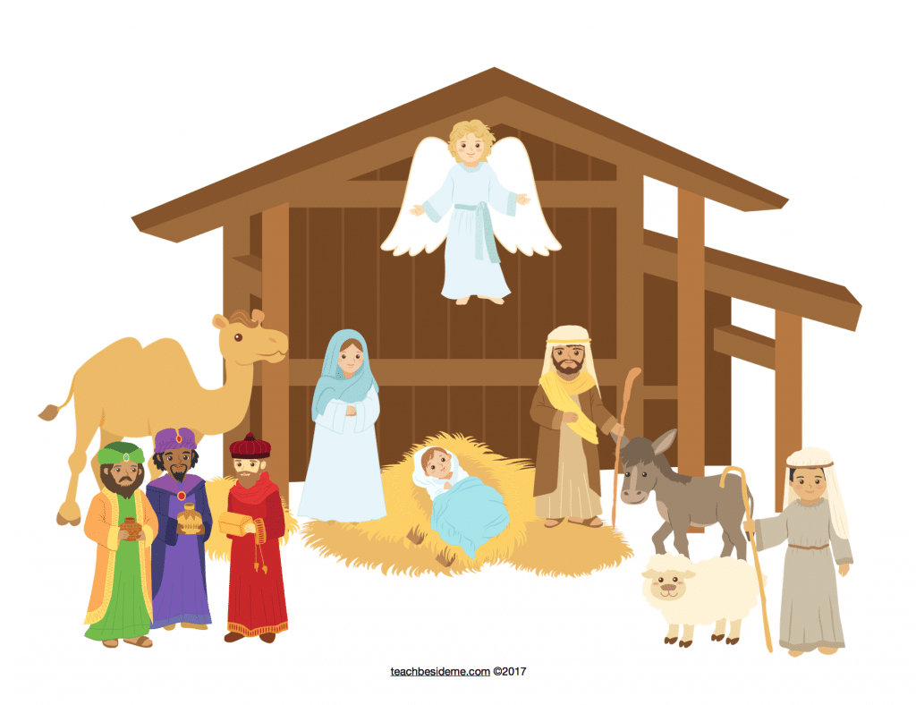 photograph about Nativity Printable titled Printable Establish Your Particular Nativity Train Beside Me