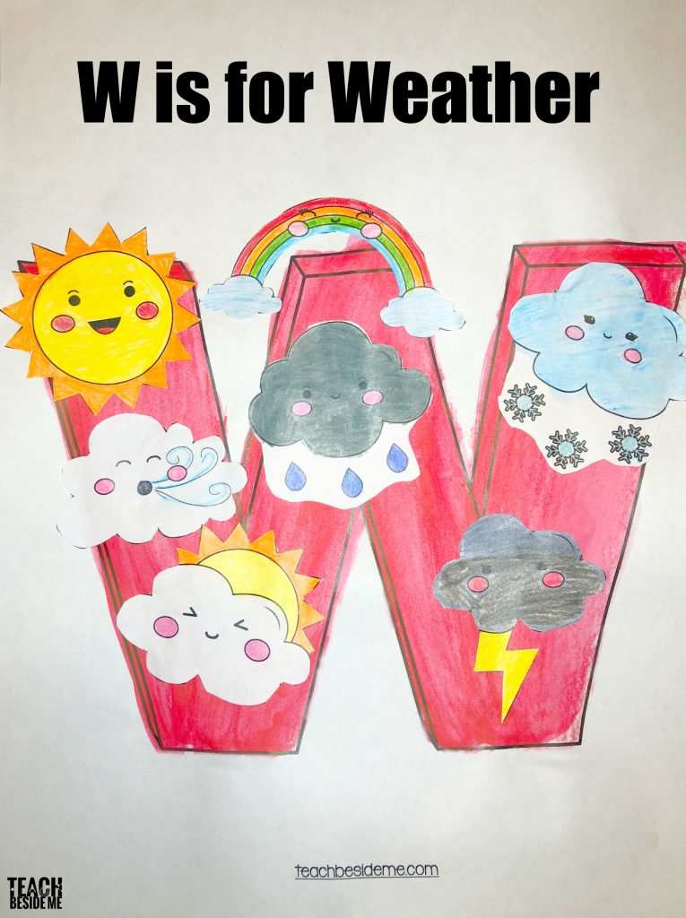 W is for weather preschool craft
