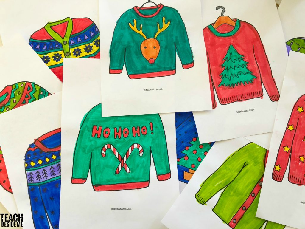 Colored christmas sweater